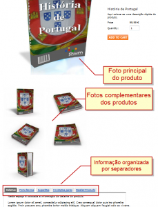 Informação de produtos nas lojas online